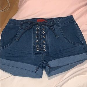 Forever 21 Small lace up shorts